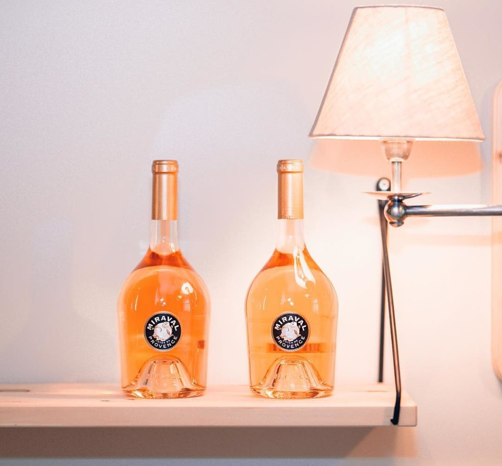 My favorite wine miravalprovence A beautiful light pink colour freshhellip